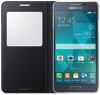 Picture of Samsung Glaxy Alpha S-View Flip Cover - Black