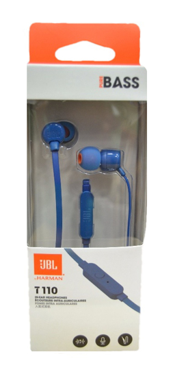 Picture of JBL T110 Stereo In Ear Earphones With Mic - Blue